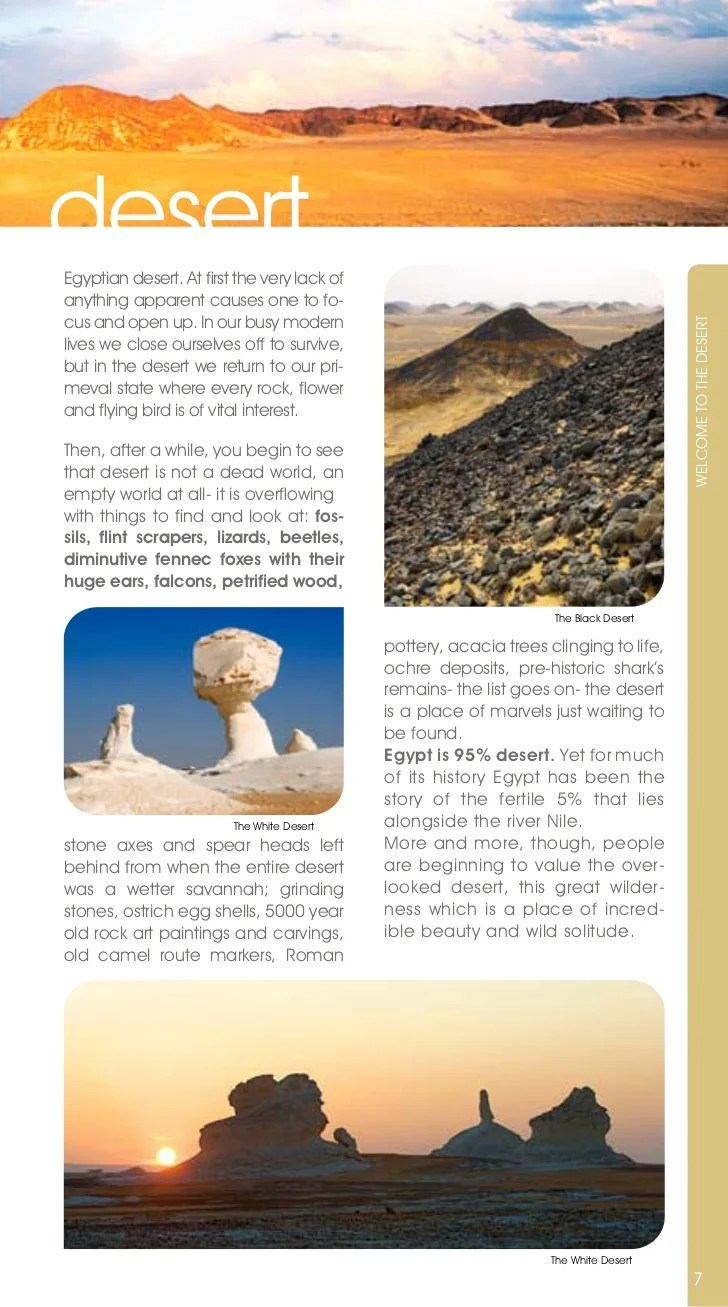Desert And Oasis Brochure