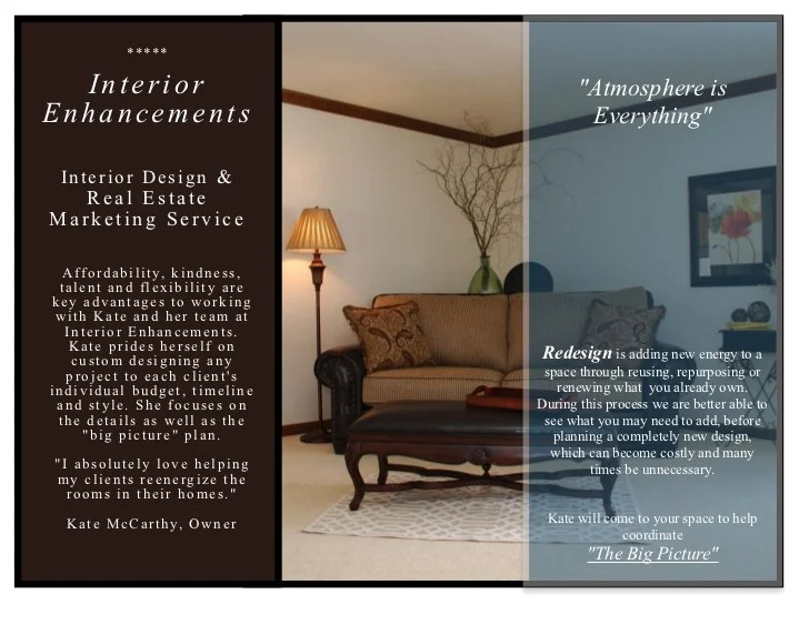 Brochure interior design free for Interior design inc