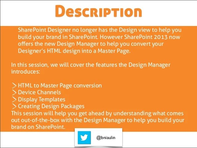 SharePoint Design manager 2013 What does it mean for you
