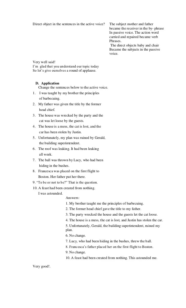 hight resolution of Detailed lesson plan in active and passive