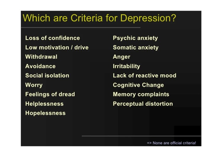 depression and lack of motivation