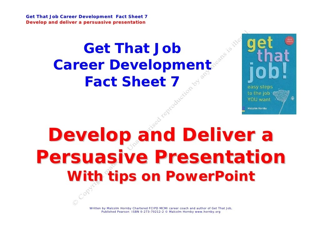 Job Hunting  how to give a great presentation