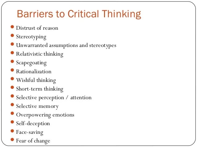 Critical Thinking Examples Creative Critical Thinking