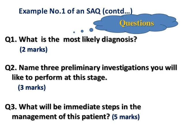 Developing short answer questions sa qs