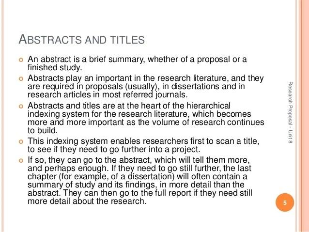 Development Of Research Proposal Unit8