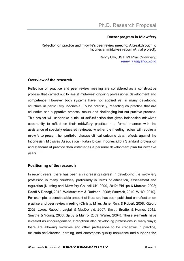 Research Proposal PhD Renny
