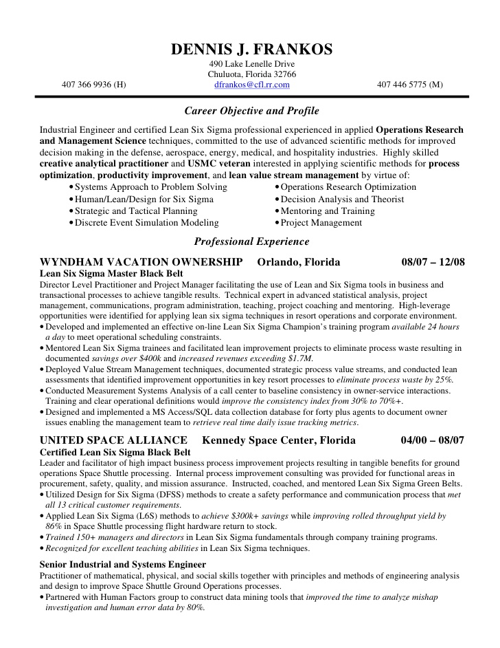 Dennis Frankos Resume And CV