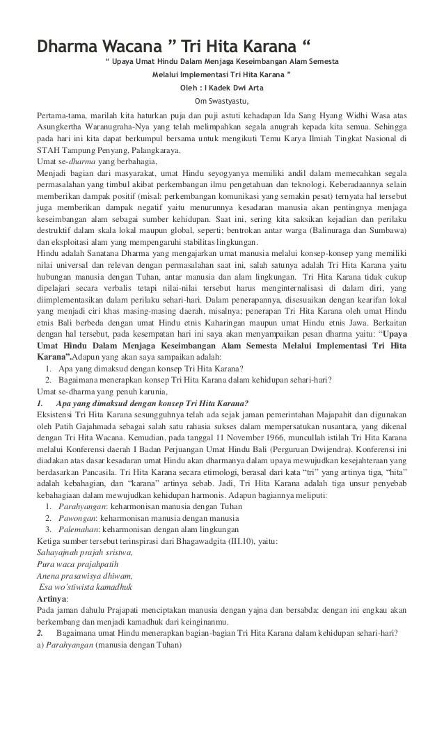Contoh Dharma Wacana Bahasa Bali : contoh, dharma, wacana, bahasa, Contoh, Dharma, Wacana, Bahasa, Singkat, Berbagai, Penting