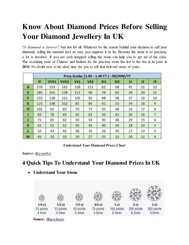also diamond prices before selling your jewellery in uk rh slideshare