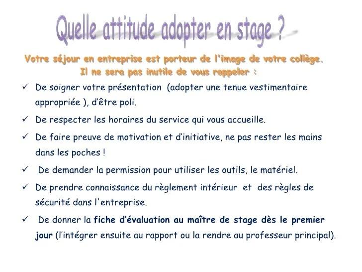 Diaporama Stage 3me