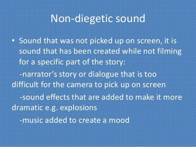 Diegetic and non diegetic sounds