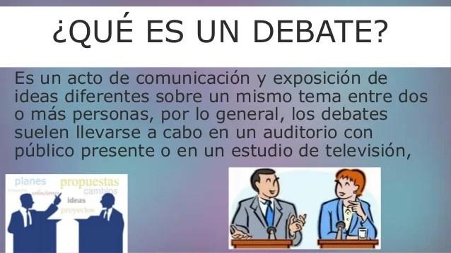 Diferencias de panel y debate