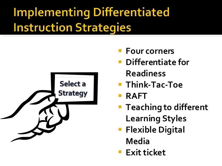 Tac Toe Differentiated Instruction