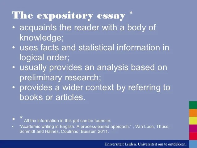 expository essay types