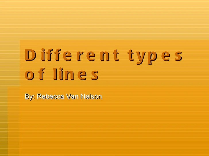Different types of lines