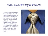 Diffrent Types of Tie Knots