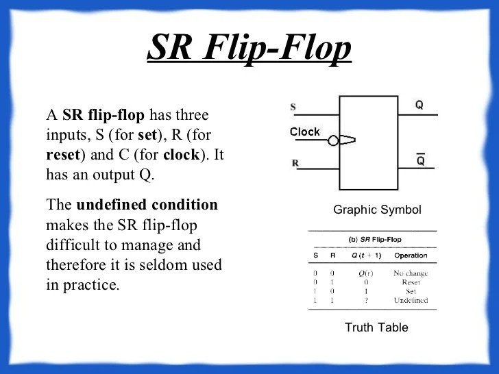 Clocked Sr Flipflop Circuit Simulator