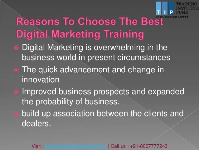While those things are still essential, a significant part must also include a digital marketing strategy. Digital marketing training in pune | Digital Marketing ...