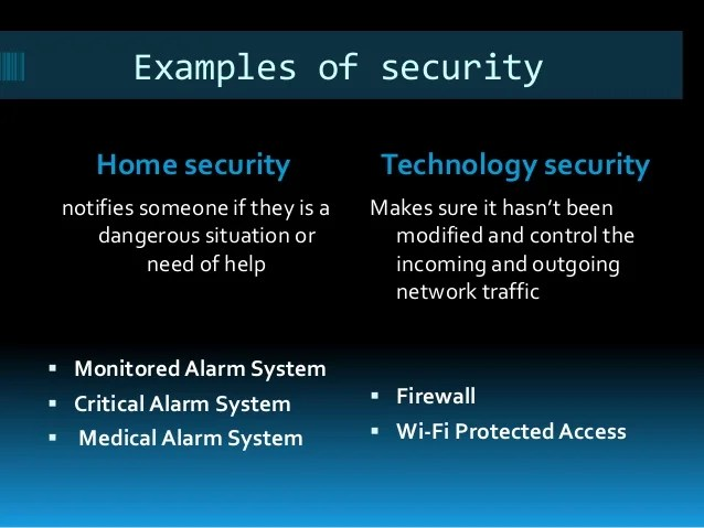 Security Equipment Meaning