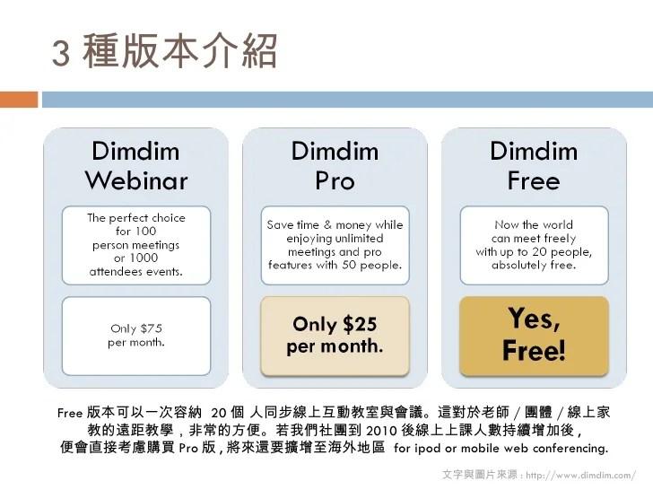 dimdim 免費多人同步互動的線上教室&會議室