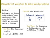 Direct And Inverse Variation Word Problems Worksheet With ...