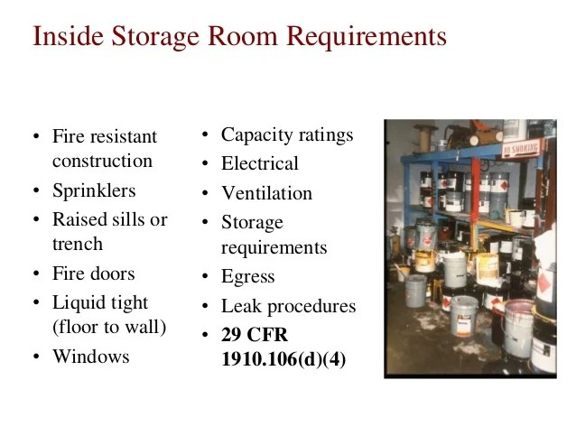 Flammable Storage Room Requirements - Ronniebrownlifesystems