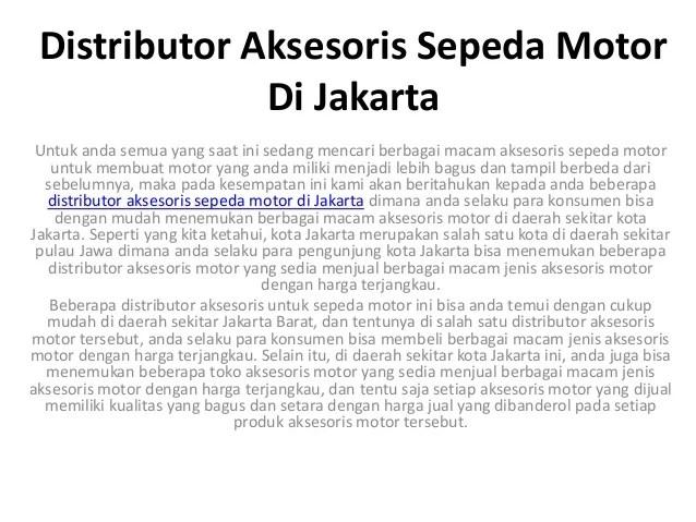 Importir Variasi Motor Di Jakarta Reviewmotors.co