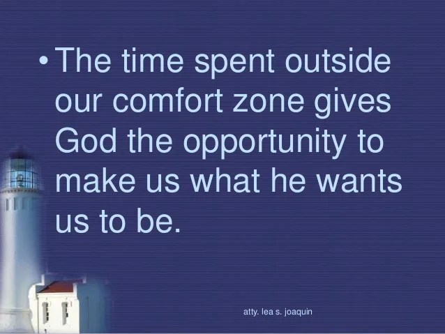 Image result for comfort zones and spiritual growth