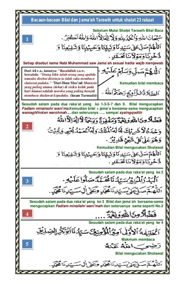 Bilal Tarawih 8 Rakaat : bilal, tarawih, rakaat, Shalat, Tarawih, Bacaan, Bilal