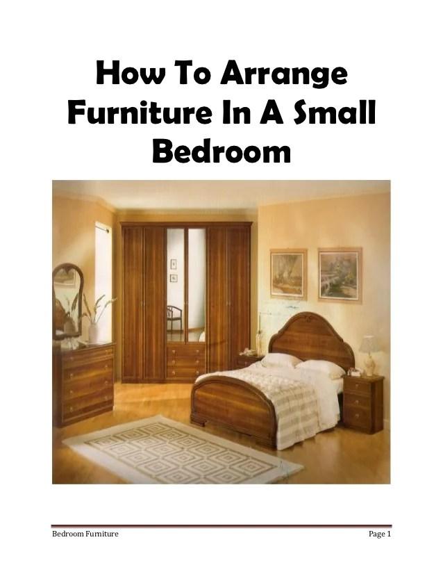 Master Bedroom Arrange Furniture