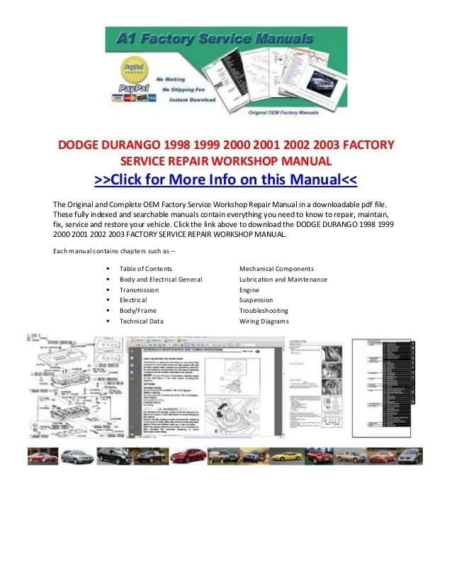 Isuzu Npr Abs Wiring Diagram Dodge Durango 1998 1999 2000 2001 2002 2003 Factory