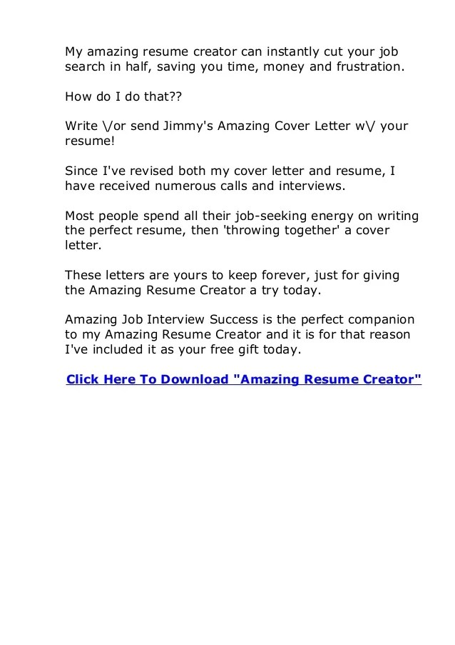 Does Amazing Resume Creator Actually Work AmazingResumeCreator Review