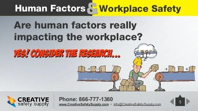 Do human factorsimpactworkplacesafety