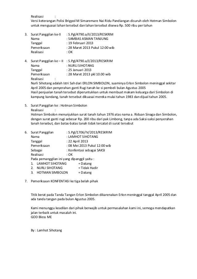 Contoh Surat Kuasa Membuat Laporan Kepolisian Contoh Lif Co Id