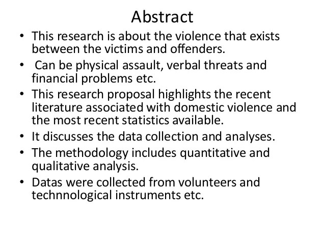 Domestic Violence Research Project