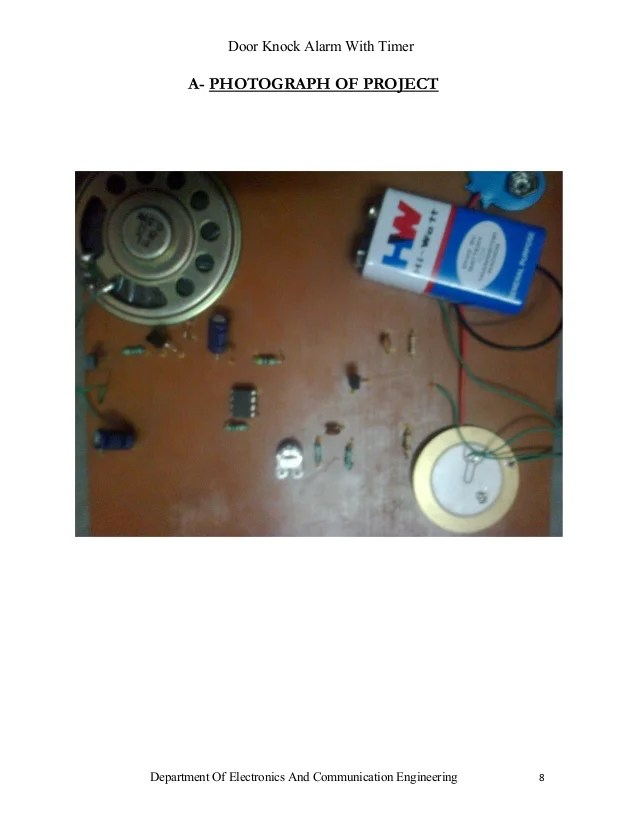Simple Knock Alarm With Piezo Sensor
