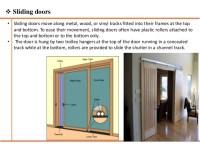 Doors and windows - Building Construction