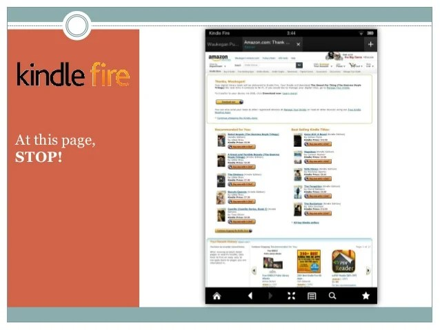 Downloading eBooks to a Kindle Fire