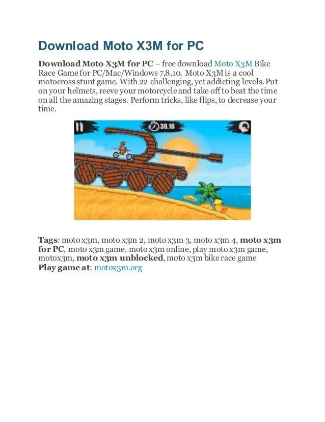 Moto X3m 3 Unblocked : unblocked, Download