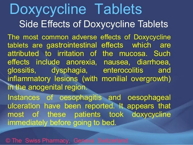 What Are The Side Effects Of Doxycycline - www.selvicultor.net