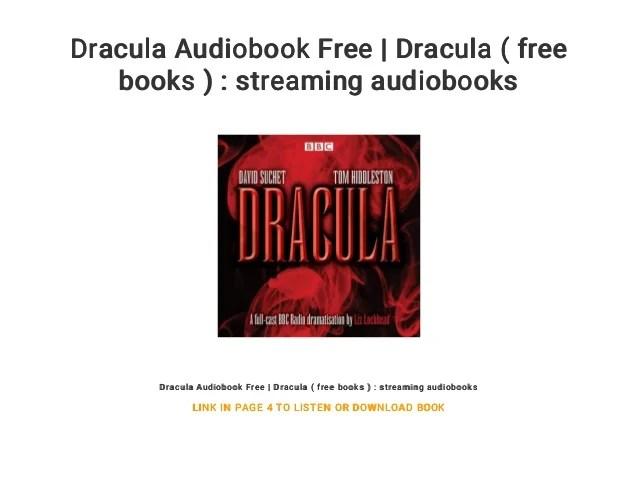 dracula audiobook free dracula