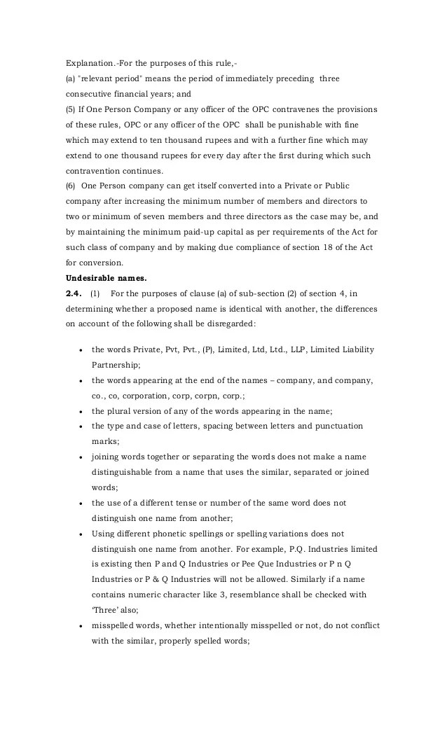 Draft rules for 16 chapters issued on september 7 2013 by mca(1)