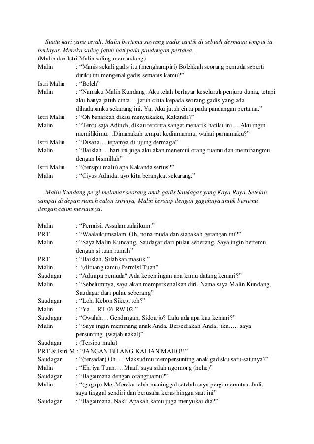 Naskah Drama Malin Kundang : naskah, drama, malin, kundang, Naskah, Drama, Maling, Kundang, Dalam, Bahasa, Inggris, Berbagai, Cute766