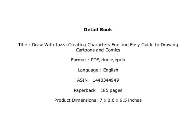 P D F Draw With Jazza Creating Characters Fun And Easy Guide To D