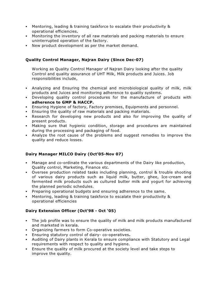 quality assurance trainer resume