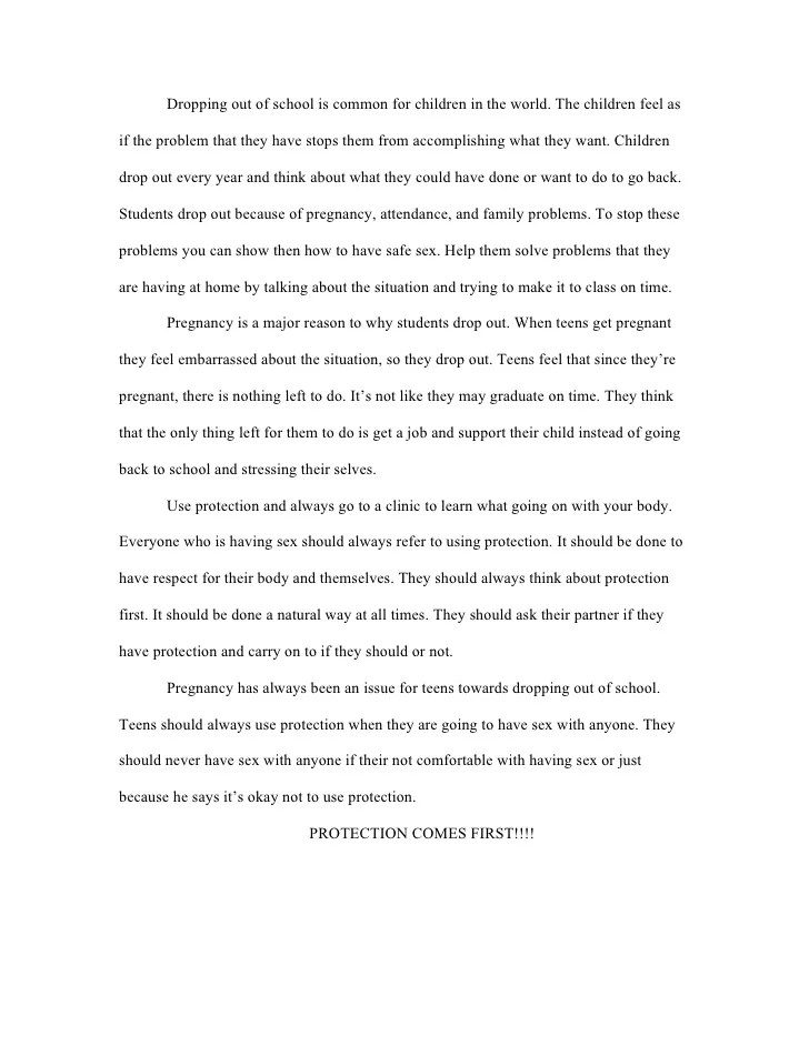 High School Dropout Essay Descriptive Essay Topics For