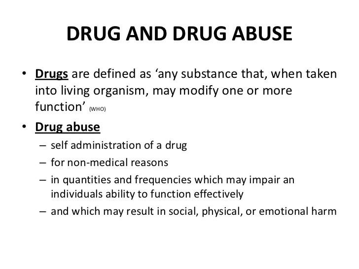Drugs and smoking
