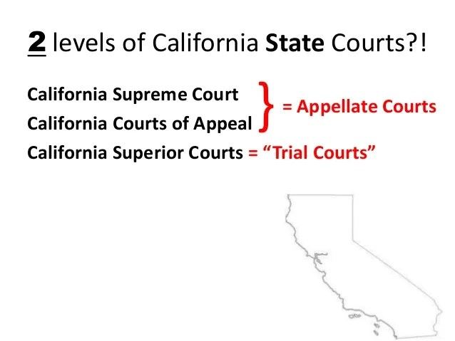 california court system diagram pig dissection reproductive dual courts 13 14 2 levels of