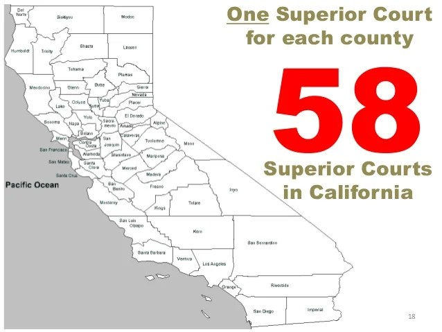 california court system diagram sears weed eater fuel line dual one superior for each county 17 18