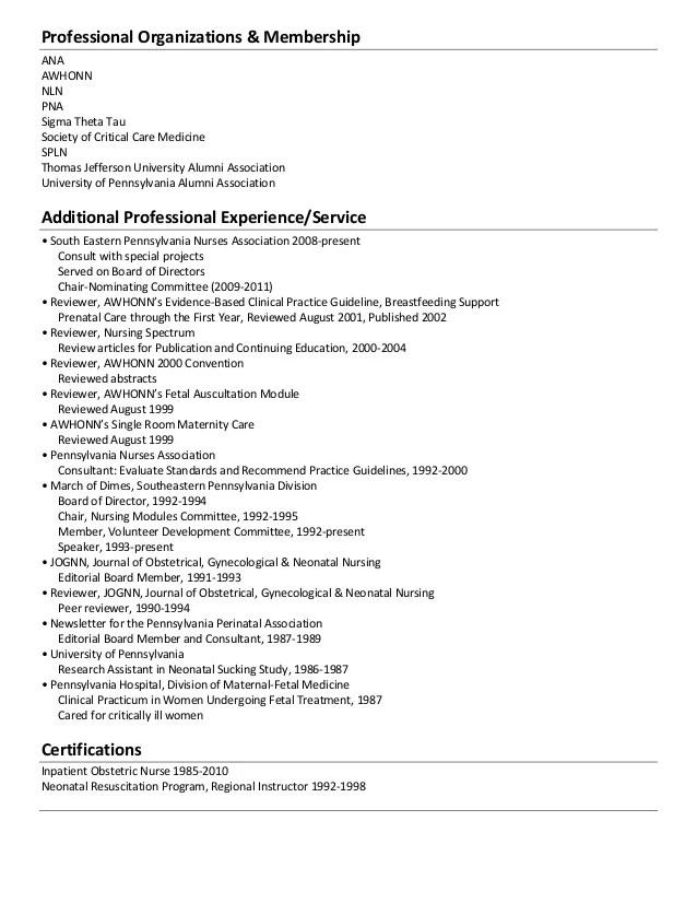 sample resume for obstetrical nurse